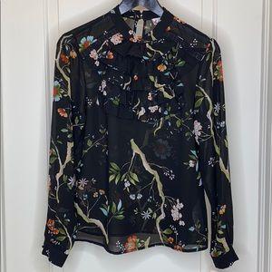 Nanette Lepore Eastern Opulence ruffle blouse